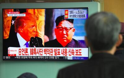 El presidente, Donald Trump, y el líder norcoreano, Kim Jong Un,...