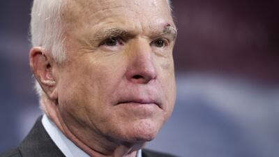 """""""We weaken our greatness ... when we hide behind walls, rather than tear them down"""" - the last words of John McCain"""