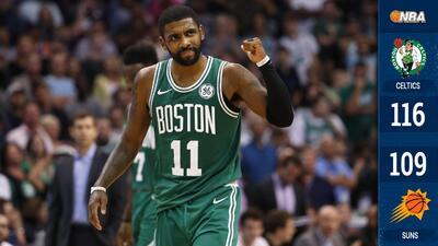 Con Kyrie Irving encendido, los Celtics remontan fuerte desventaja puntos ante los Suns