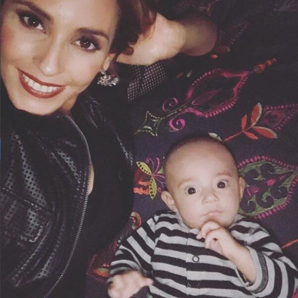 Mar Contreras y su hijo