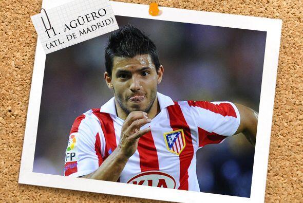 El último atacante es el argentino Sergio Agüero del Atlético de Madrid.