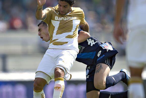 Anotó los goles de la UNAM al minute 18 mediante un penalty y al 34 en r...