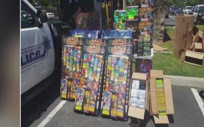 Autoridades de San Bernardino decomisaron 320 libras de pirotecnia en un...