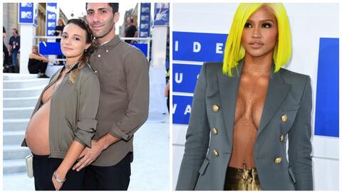 Llevar el dorso desnudo fue una constante en la alfombra roja de los MTV...