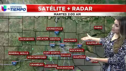 'Dallas en un Minuto': aguaceros dispersos durante parte de la mañana y...