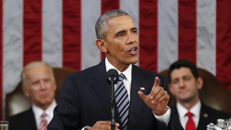 El presidente Barack Obama durante su discurso