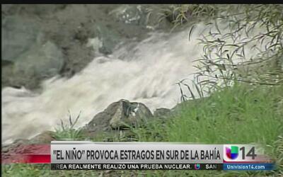 """""""El Niño"""" provoca estragos al sur de la bahía"""