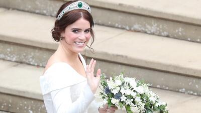 En video: la llegada de la princesa Eugenie a su boda con Jack Brooksbank