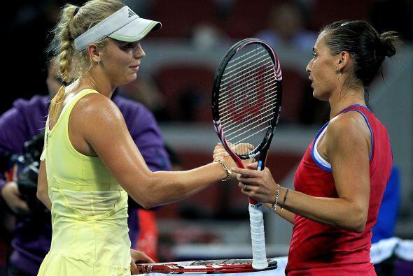 Ambas tenistas se dieron la mano, sin embargo, la danesa no se va conten...