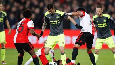 Se acabó la Copa para el PSV y el 'Chucky' Lozano