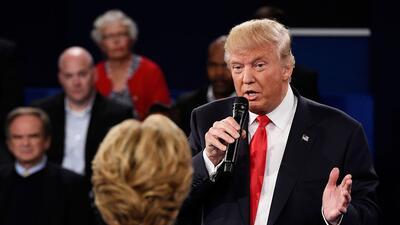 Así respondió Donald Trump a su lascivo video durante el segundo debate...
