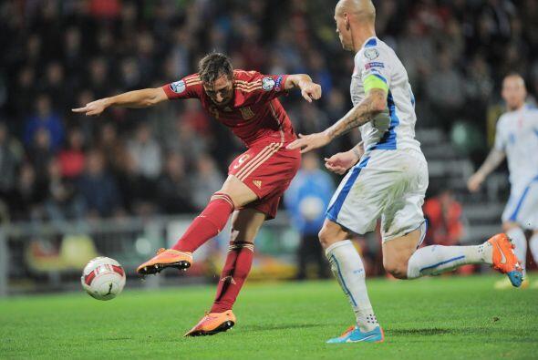 España intentó meterse en el partido y lograría el empate parcial en la...