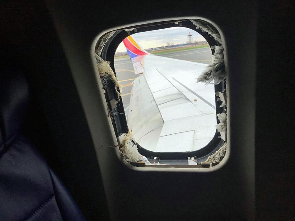 Ventana Avión Accidentado Philadelphia