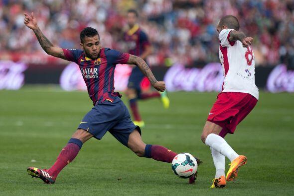 El Almería se atrevió un poco ante el barcelona.
