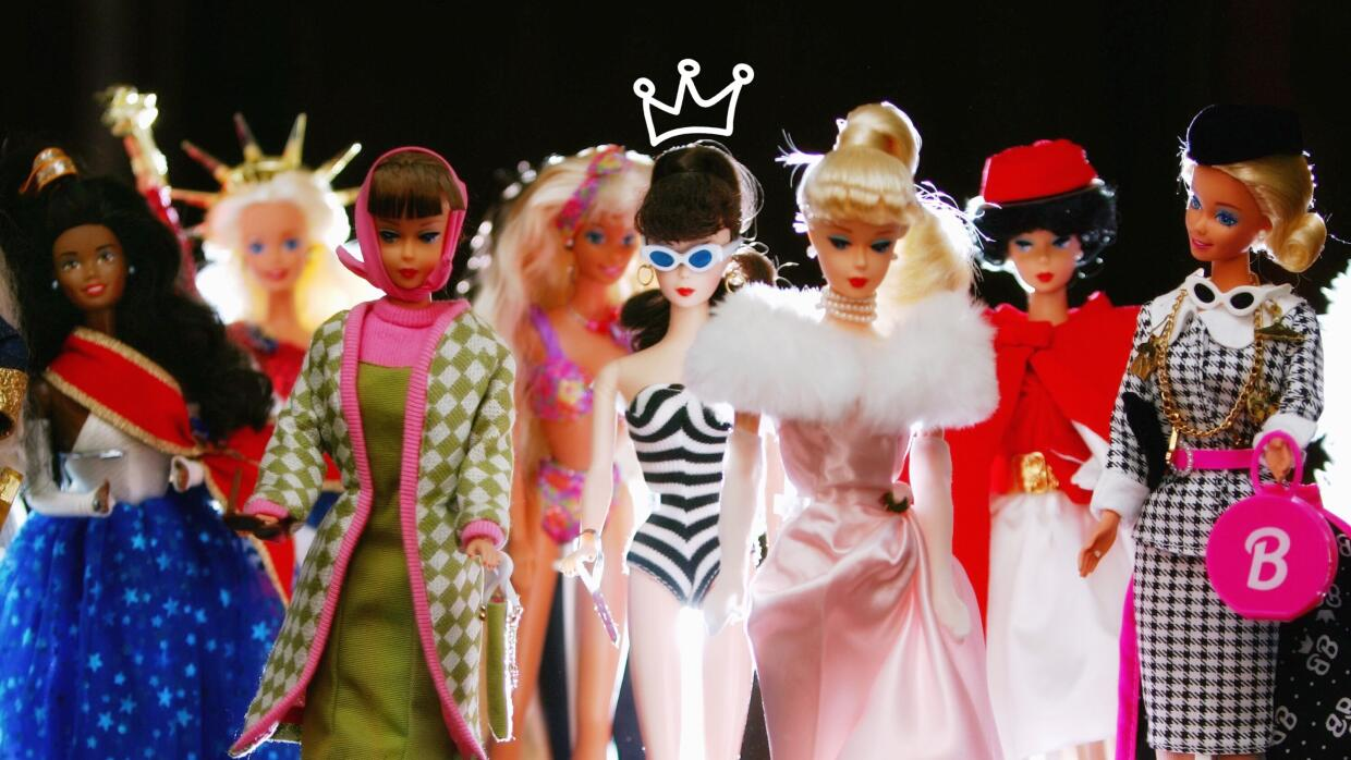 The toy doll Barbie appears in her various incarnations at Leuralla NSW...