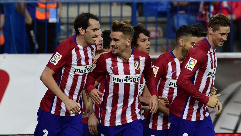 Antoine Griezmann hizo los dos goles del Atlético ante Getafe.