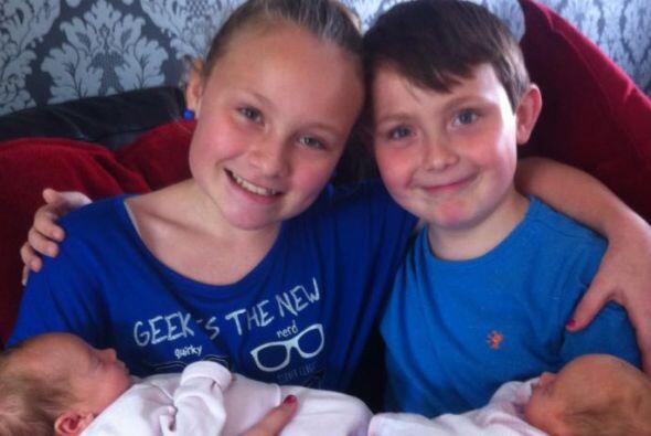 La pareja ya tenía dos hijos Charlotte  de 12 años y  Callum de 9 años.