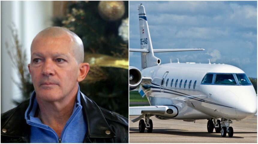 Antonio Banderas coma un avión usado