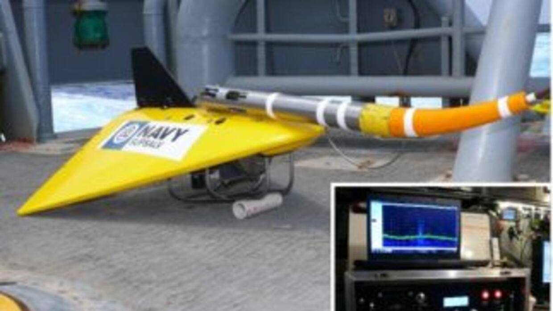EL TPL-25, un sofisticado localizador de la Marina de EEUU. Crédito: US...