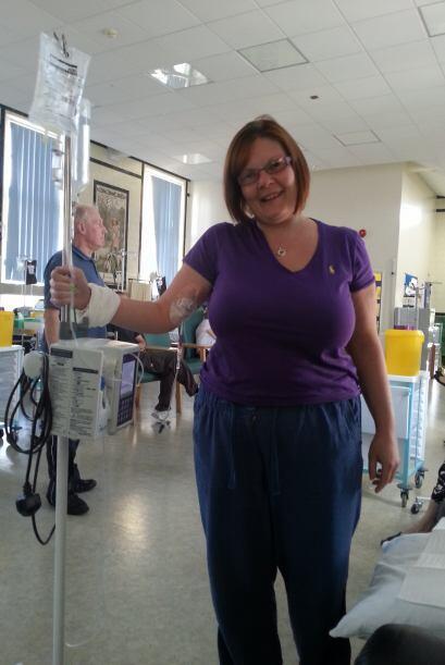 Después de seis agotadoras semanas de quimioterapia, radioterapia y braq...