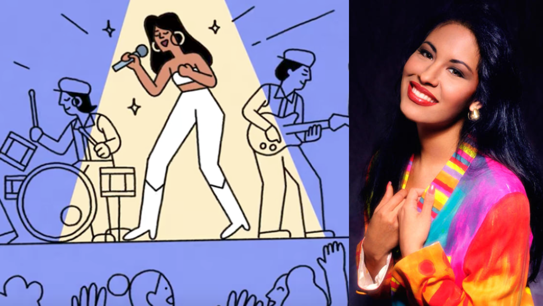 Google dedicó uno de sus 'doodles' a Selena.