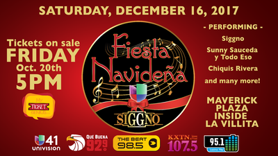 Fiesta Navideña tickets on sale this Friday