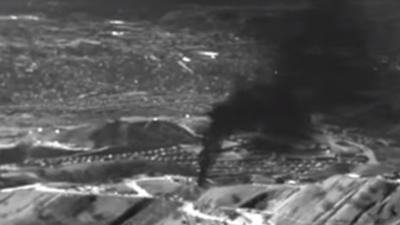 Imagen de infrarrojos de la fuga de gas de Porter Ranch