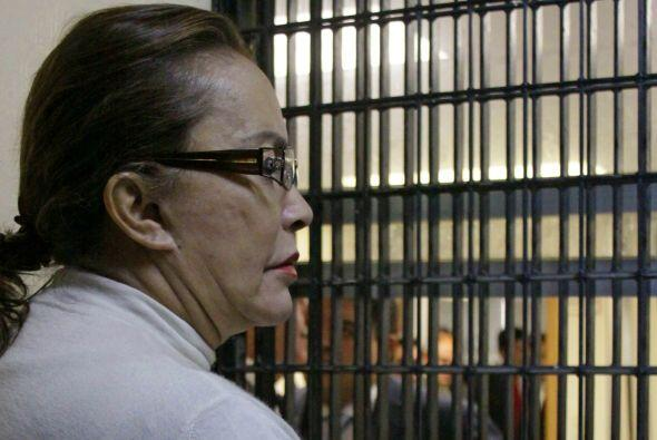 Elba Esther Gordillo dentro del Centro de Readaptación de Tepepan, donde...