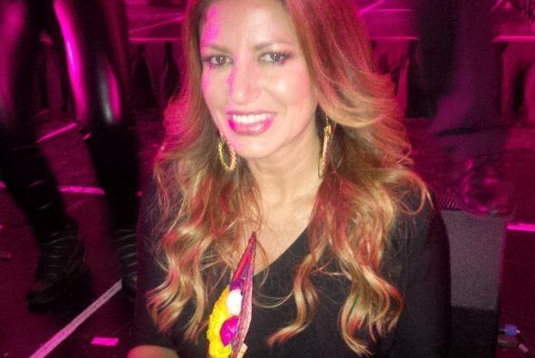 Paola Gutiérrez muy sonriente. ¿Será que ya detectó con quiénes le va a...