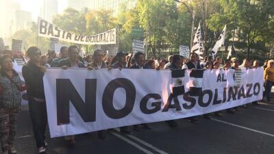 Marcha contra 'gasolinazo'