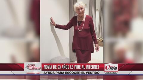 Novia de 93 años le pide ayuda a internet para elegir su vestido