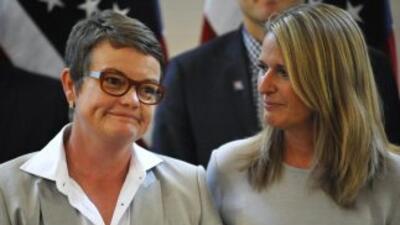 Kristin Perry y Sandra Stier, pareja desde 1997, se casaron en San Franc...