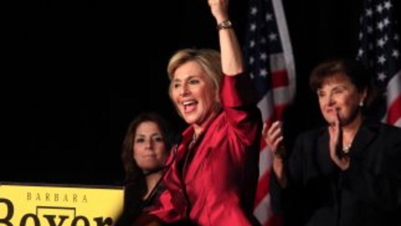 Barbara Boxer fue reelecta al Senado en California. La mayoría de los ca...