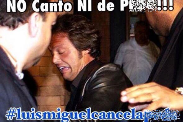 Luis Miguel captó los titulares y protagonizó una ronda de memes luego d...