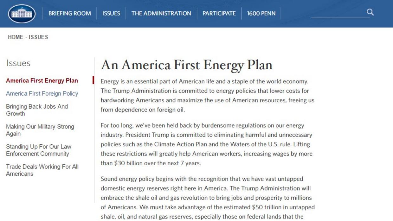 Las referencias al cambio climático son eliminadas del sitio web de la C...