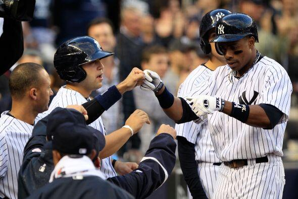 Curtis Granderson trató de revivir la ofensiva Yankee con un cuadrangula...