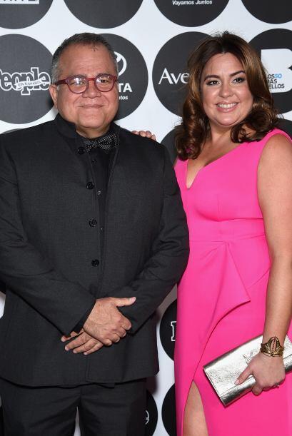 Director de la revista, Armando Correa, y Monique Manso