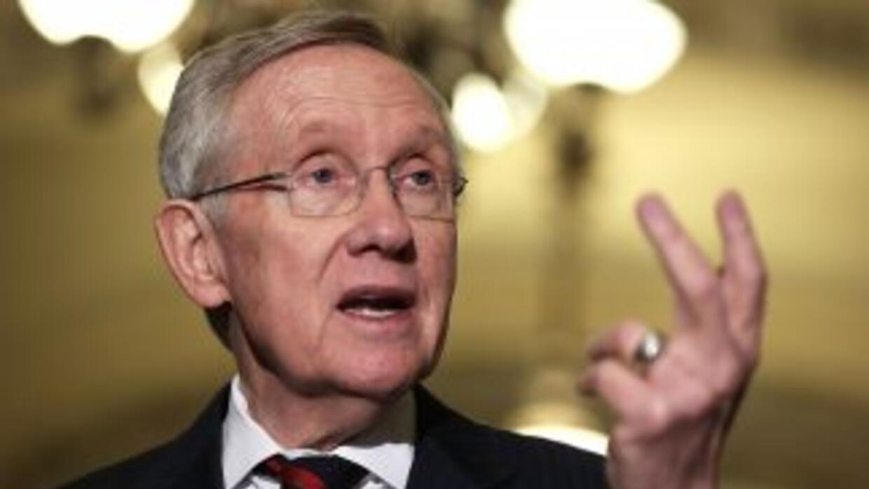 Harry Reid (demócrata de Nevada), líder del Senado de Estados Unidos. /...