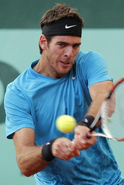 El partido entre el argentino Juan Martín del Potro y Novak Djokovic tuv...