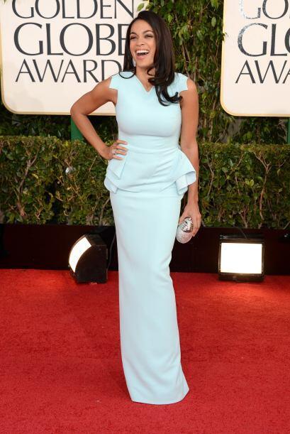 La moda 'peplum' fue del 2012, pero creemos que Rosario Dawson no record...