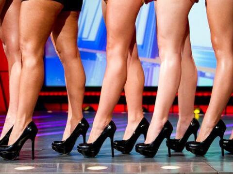 Estas son las candidatas en el concurso Miss Piernas de Sábado Gi...