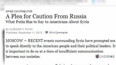 Reacciones a editorial de Putin en New York Times