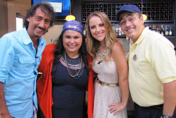 Paloma Márquez fue la anfitriona. ¡Qué talentoso equipo!