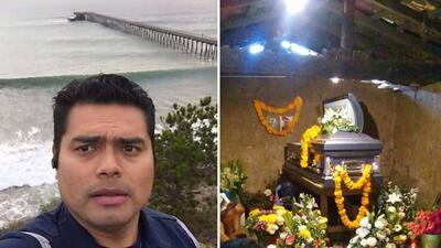 En fotos: Así fue el entierro del migrante que salvó a una niña en el mar de California