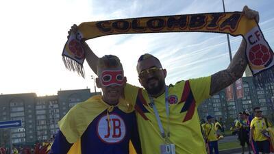 El colorido y alegría de los fanáticos para el partido de Colombia y Polonia en el Mundial