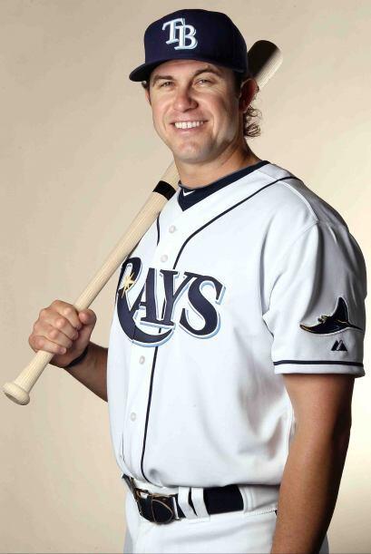Evan Longoria, el tercera base de sangre española de los Rays de Tampa,...