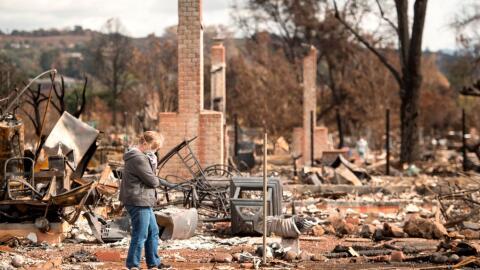 Miles de hogares fueron consumidos por las llamas en la zona vitivin&iac...