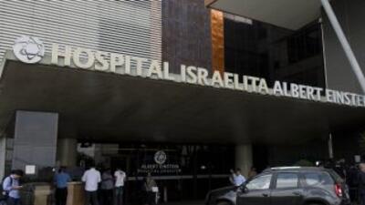 El hospital Albert Einstein, donde se encuentra el astro del fútbol.