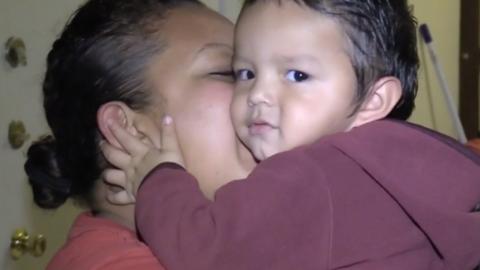 Ana Lilian Escobar vivió momentos de terror cuando su niñe...