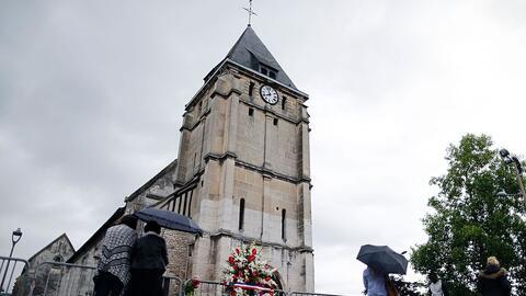 Iglesia de Saint-Etienne du Rouvray, donde se produjo el asesinato del s...